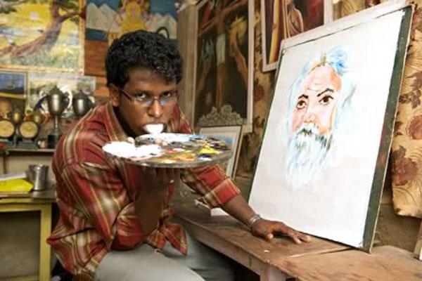 Ζωγραφίζει πίνακες με τη… γλώσσα!