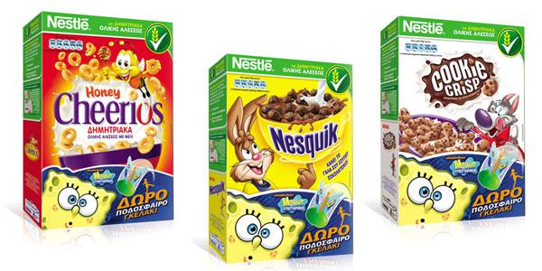 Δώρα από τον Μπομπ Σφουγγαράκη™ στα παιδικά δημητριακά της Nestlé!
