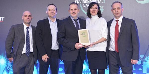 Χρυσό βραβείο Sustainable Procurement για τη Barilla Hellas στα Environmental Awards 2015