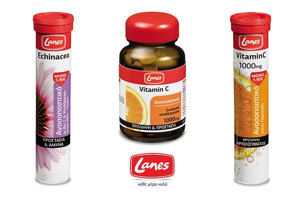 Η πρόληψη και η άμυνα του οργανισμού ακούν στο όνομα  «Lanes Βιταμίνη C»