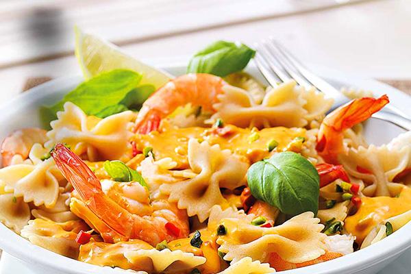 Farfalle Integrale με γαρίδες και Pesto alla Calabrese (Συνταγή & διατροφική ανάλυση)