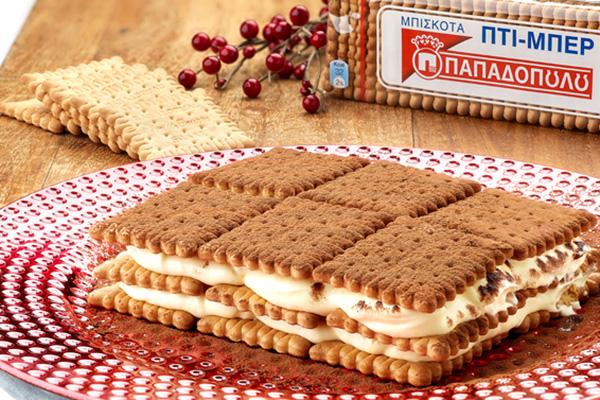 Τιραμισού με μπισκότα «ΠΤΙ-ΜΠΕΡ» ΠΑΠΑΔΟΠΟΥΛΟΥ