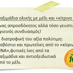 Παξιμάδια ολικής με μέλι και «κίτρινο τυρί FINA»