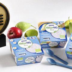 «Χρυσό» στο βιολογικό βρεφικό επιδόρπιο γάλακτος NaturNes Bio