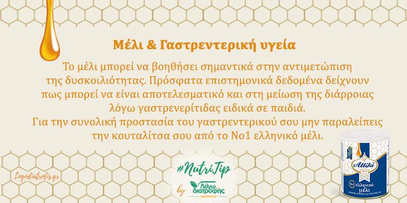 Μέλι και Γαστρεντερική Υγεία